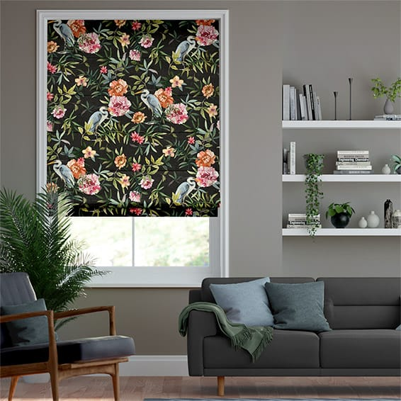 Bella Heron Midnight Roman Blind