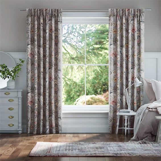 Bella Heron Silver Curtains