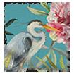 Bella Heron Turquoise Roman Blind swatch image