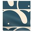 Beluga Blackout Ink Roller Blind slat image