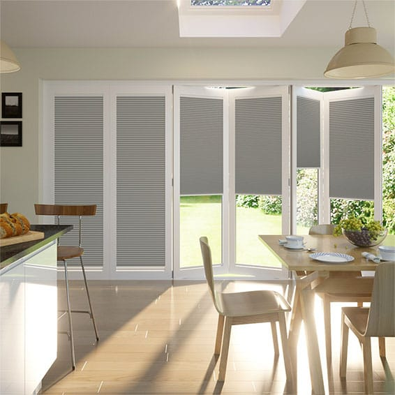 BiFold ClickFIT DuoLuxe Ash  Pleated Blind