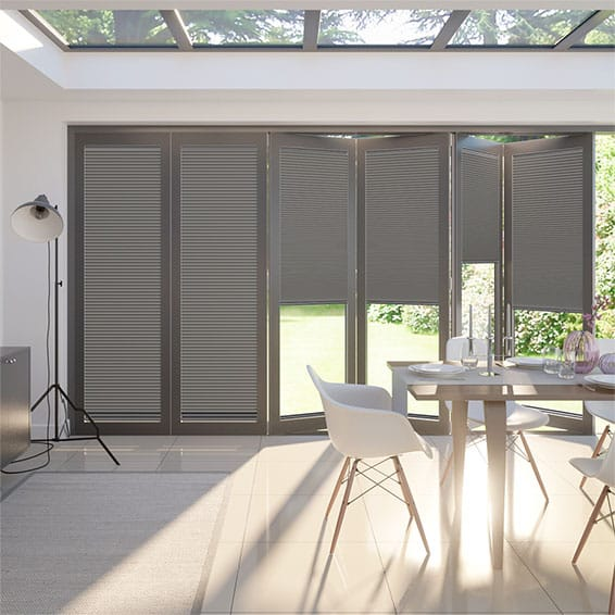 BiFold ClickFIT DuoLuxe Pewter  Pleated Blind