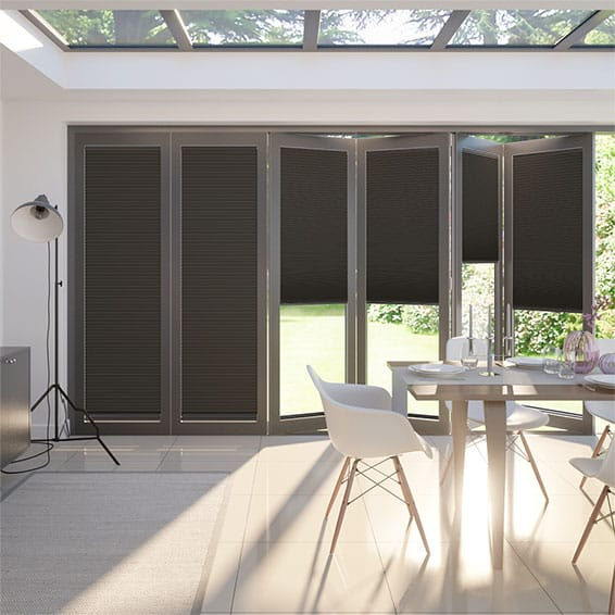 BiFold ClickFIT DuoShade Charcoal Pleated Blind
