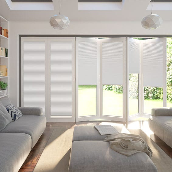 BiFold ClickFIT DuoShade Frost White Pleated Blind