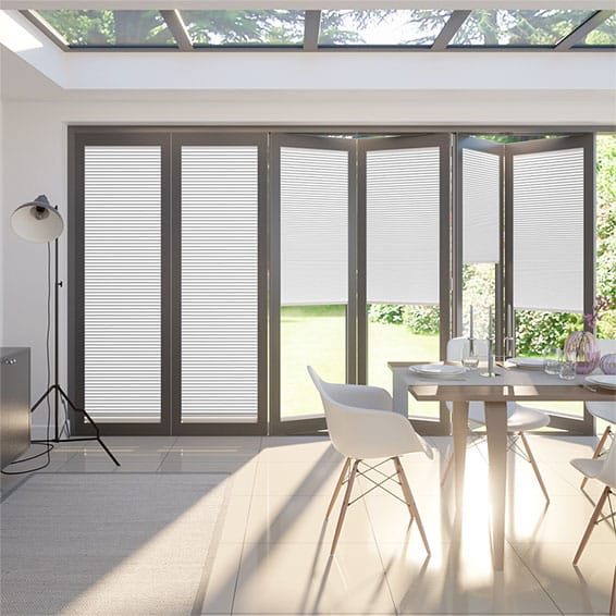 BiFold ClickFIT DuoShade White Pleated Blind