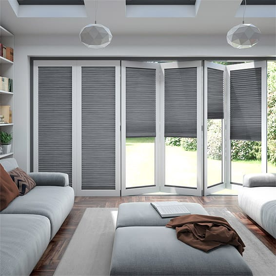 BiFold ClickFIT Supreme Pewter Pleated Blind
