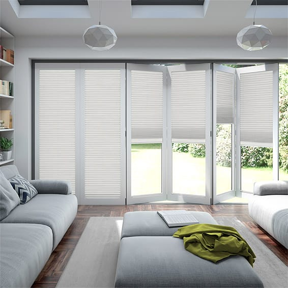 BiFold ClickFIT Supreme White Pleated Blind