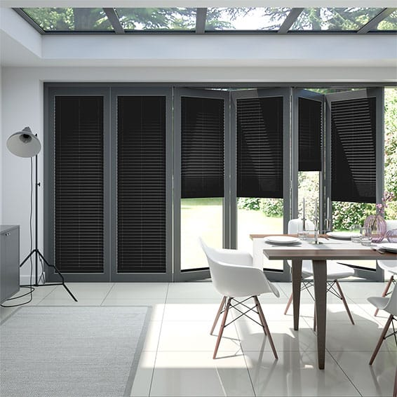 BiFold ClickFIT Charcoal Pleated Blind