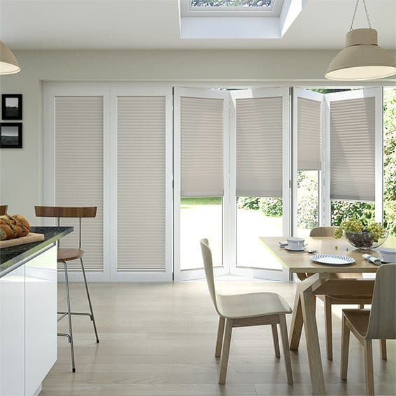 BiFold ClickFIT Latte Pleated Blind