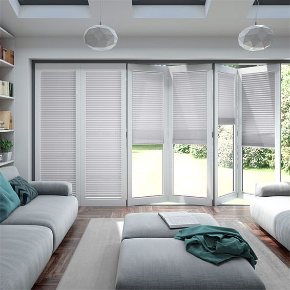 BiFold ClickFIT Palest Grey Pleated Blind