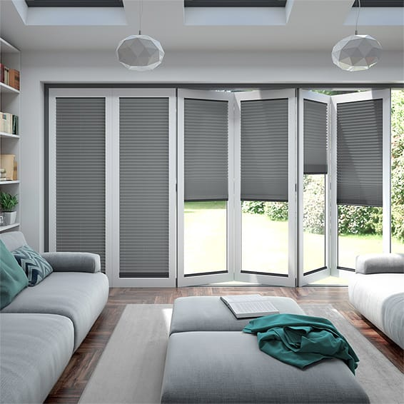 BiFold ClickFIT Slate Grey Pleated Blind