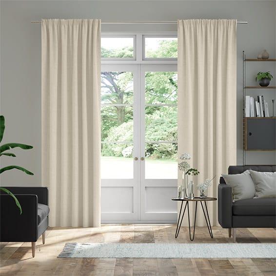 Bijou Linen Alabaster  Curtains