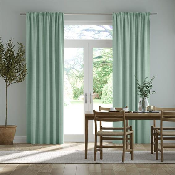 Bijou Linen Aqua  Curtains