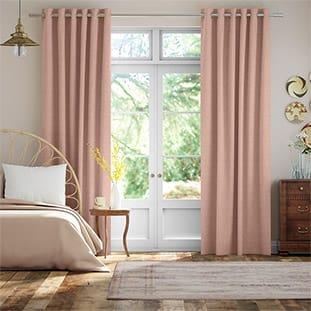 Bijou Linen Blush Pink Curtains thumbnail image