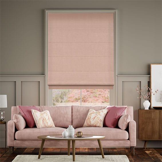 Bijou Linen Blush Pink  Roman Blind