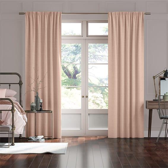 Bijou Linen Vintage Pink Curtains