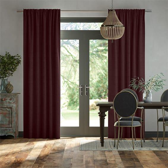 Bijou Linen Grape  Curtains