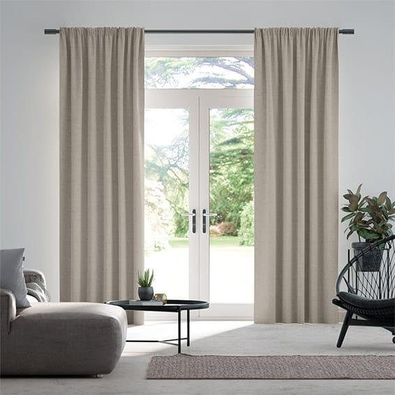 Bijou Linen Grey Wash  Curtains