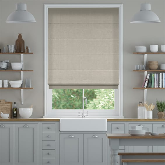 Bijou Linen Grey Wash  Roman Blind