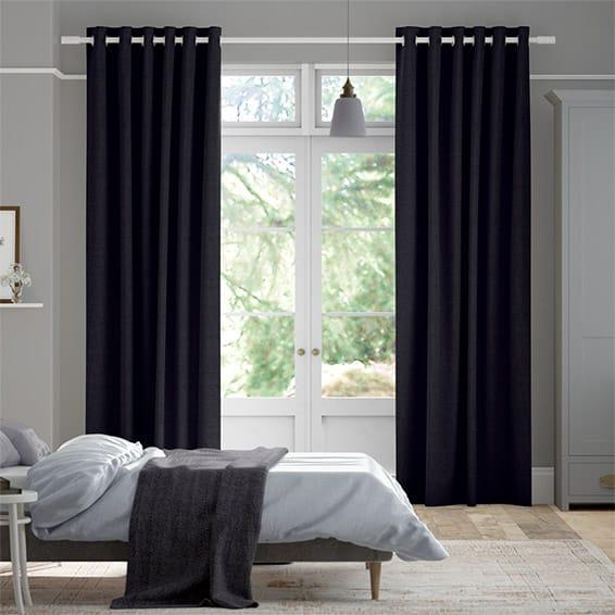Bijou Linen Indigo  Curtains