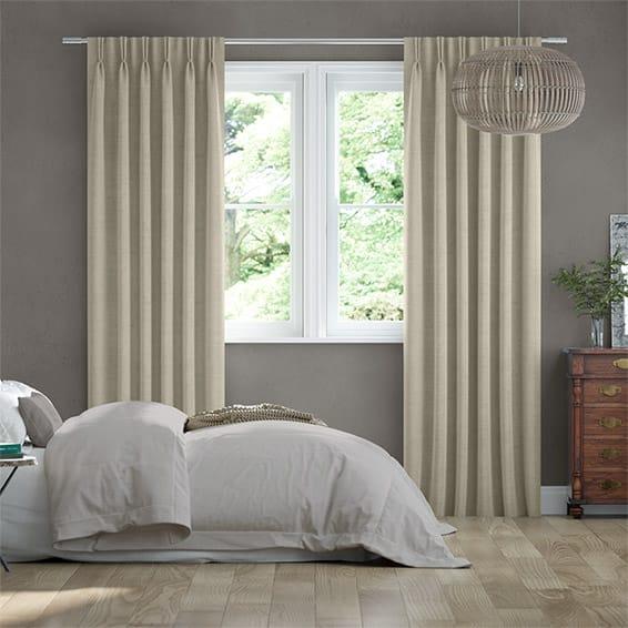 Bijou Linen Latte  Curtains
