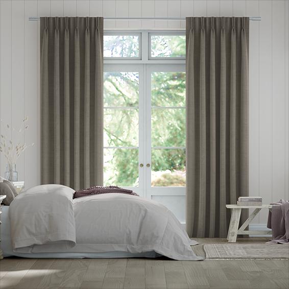Bijou Linen Pewter  Curtains