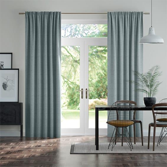 Bijou Linen Sky  Curtains