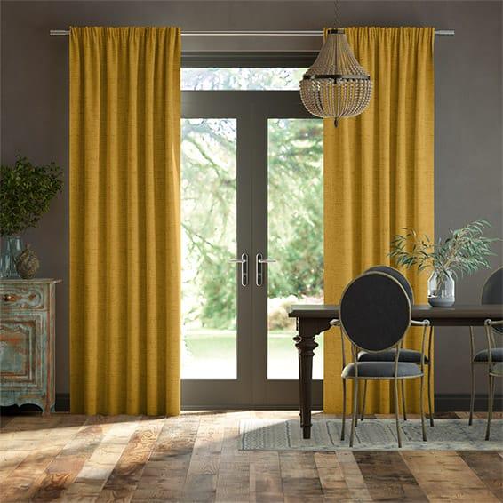 Bijou Linen Sunflower  Curtains