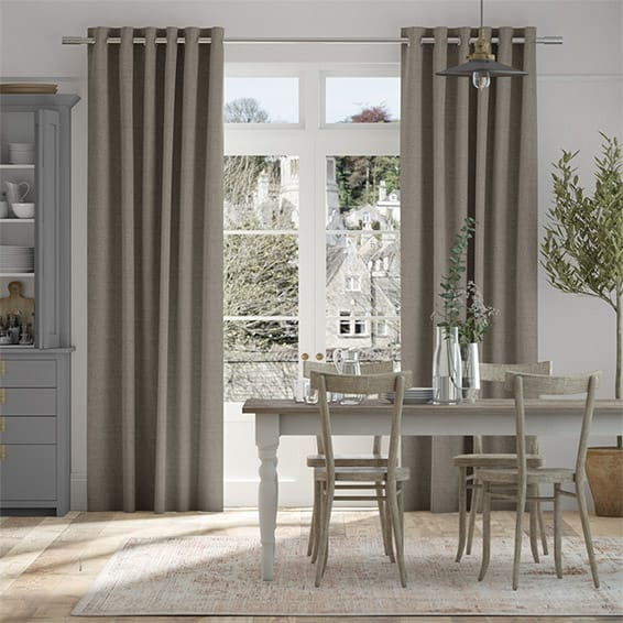 Bijou Linen Taupe  Curtains