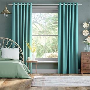 Bijou Linen Turquoise Curtains thumbnail image