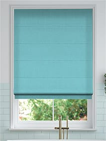 Bijou Linen Turquoise Roman Blind thumbnail image