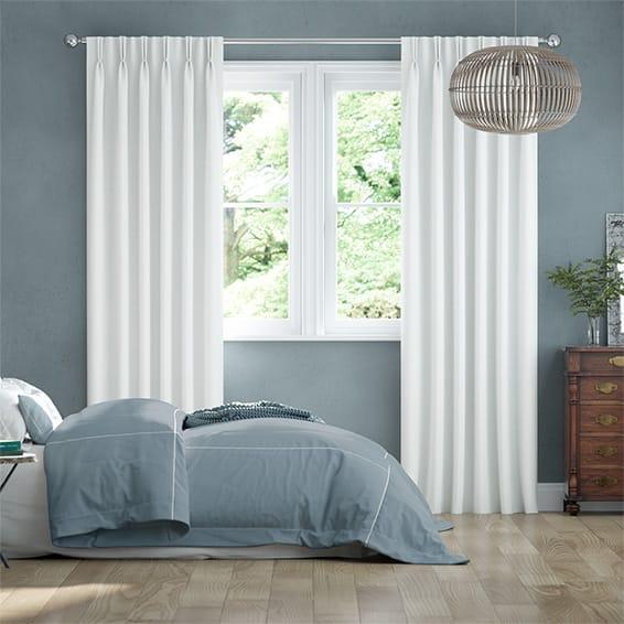 Bijou Linen White Curtains