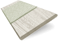 Birch Bark & Nickel Faux Wood Blind - 50mm Slat sample image