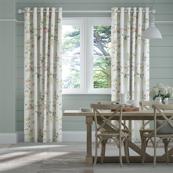 Birds and Roses Multi Curtains