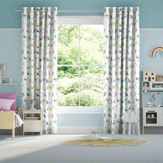 Birdy Branch Blossom Curtains