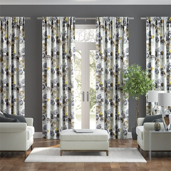 Blakely Linen Mustard Curtains