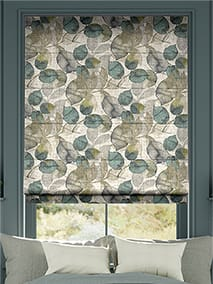Blakely Linen Vintage Cyan Spring Roman Blind thumbnail image