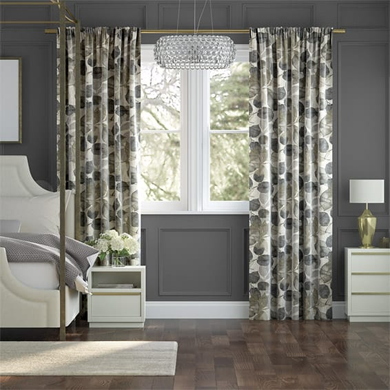Blakely Linen Vintage Vapour Grey Curtains