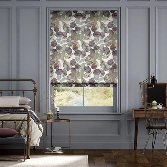Blakely Linen Vintage Violet Roman Blind