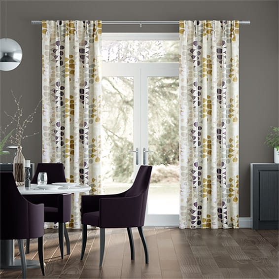 Blooming Meadow Faux Silk Amethyst Curtains