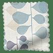 Blooming Meadow Linen Blue Roman Blind sample image