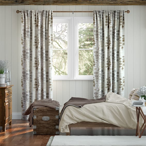 Blooming Meadow Linen Neutral Curtains