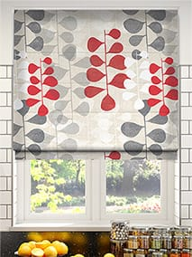 Blooming Meadow Linen Ruby Roman Blind thumbnail image