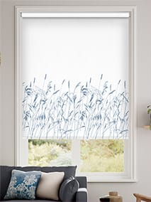 Blowing Grasses Blue Roller Blind thumbnail image