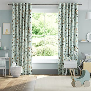 Blue Cats Duck Egg Curtains thumbnail image