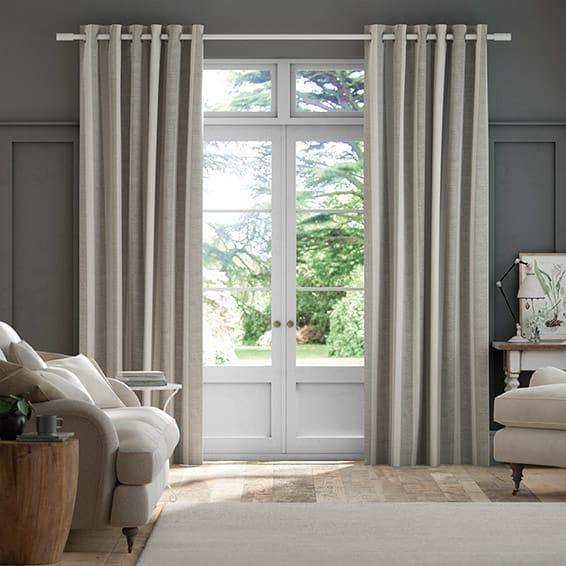 Bodega Linen Stripe Curtains