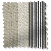 Brazen Stripe Linen Vintage Graphite Grey Curtains slat image
