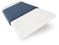 Brightest White and Denim Wooden Blind swatch image