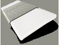 Brightest White and Elephant Grey Wooden Blind - 50mm Slat sample image