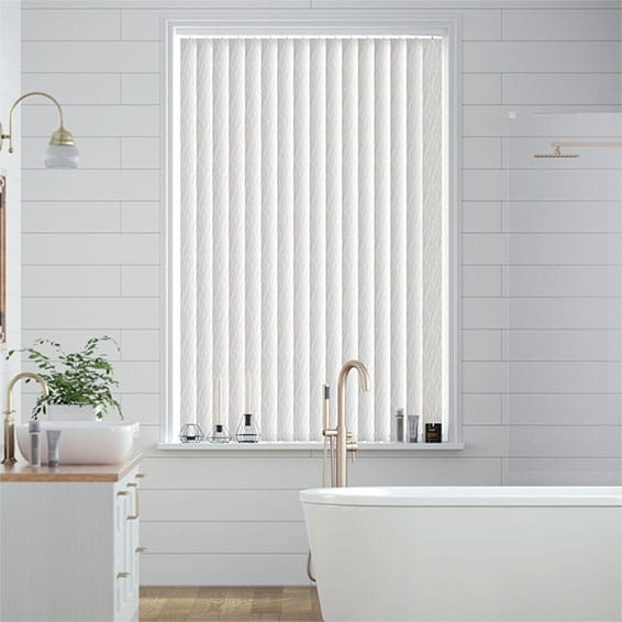 Bruges Pearly White Vertical Blind